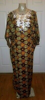 Beautiful Traditional Tribal Dashiki Orange and Yellow PlusSize/One Size