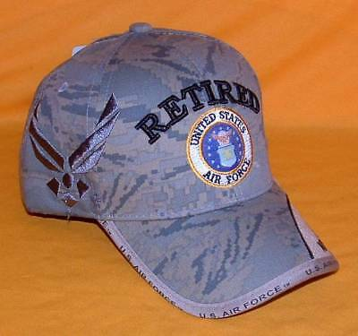 3b4b9a588f4 US Air Force Retired New Digital Embroidered Military Licensed Ball Cap Hat.