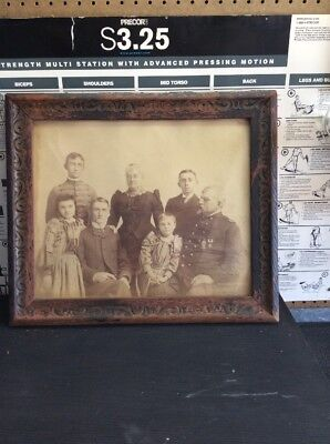 Antique extremely old vintage picture and frame original glass