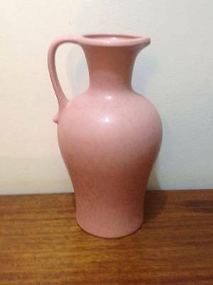 Scheurich 499-28 ceramic jug Matte Pink simple and clean mid century pottery