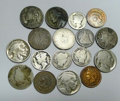 Fantastic Lot of 17 US Cull Coins! Seated,Shield,Barber, Much More!  Many Silver