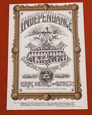 Independance Quicksilver Messenger Service Bill Graham Family Dog Postcard (A3L)