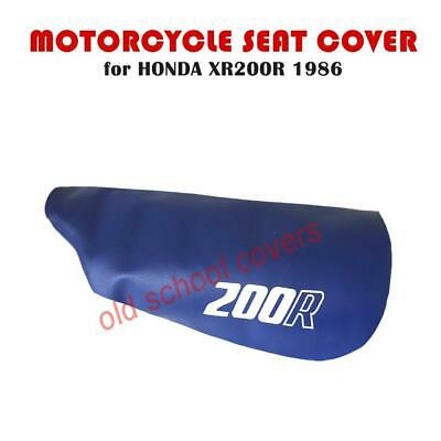 HONDA XR200R XR 200 R 1986 MODEL MOTORCYCLE SEAT COVER IN BLUE with WHITE LOGOS