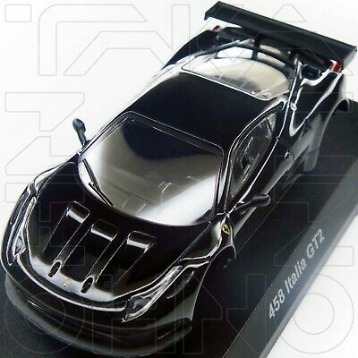 Ferrari 458 Italia Gt2  Minicar Collection 9 Neo Kyosho 1:64 Black + Silver Rim