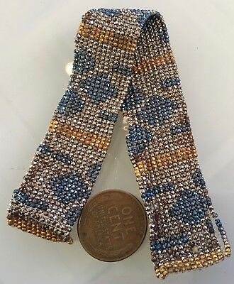 Rare Antique French Cut Steel Bead Remnant Micro Metal Faceted Multicolor Seed