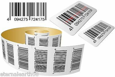 Printed Barcode Label Sticker 300 Unique Personalised EAN13, ISBN Sequential etc