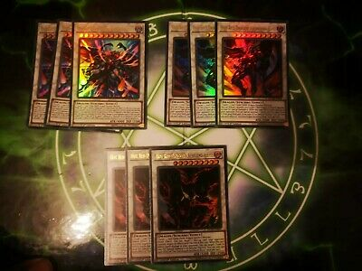 Yugioh DUPO Archfiend Deck Core - Hot Red Dragon Abyss Bane King Calamity