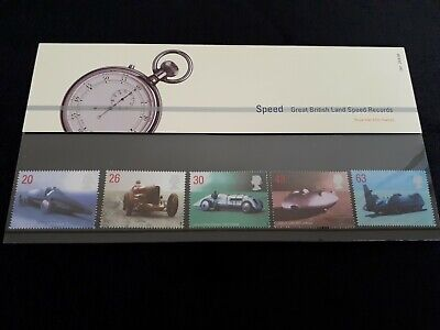 GB Royal Mail Presentation Pack 291 Great British Land Speed Records 1998
