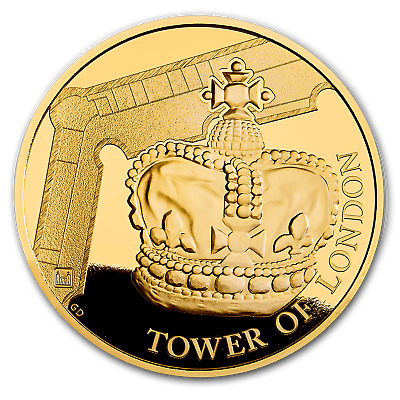 2019 Great Britain £25 1/4 oz Gold Proof The Crown Jewels - SKU#186806