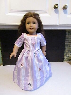 """American Girl Doll Felicity 18"""" Doll wearing Lavender Floral Dress"""
