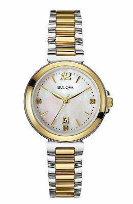 Bulova Women's 98P142 Diamond Gallery Quartz Two Tone Stainless Steel 30mm $399