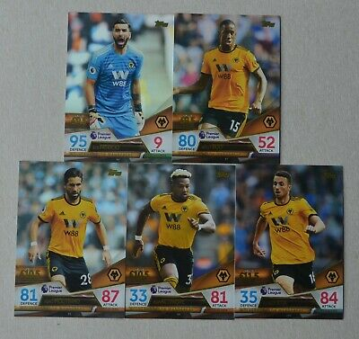 2018/19 Match Attax Ultimate;  Wolves -   5 Base Cards (Full Set)