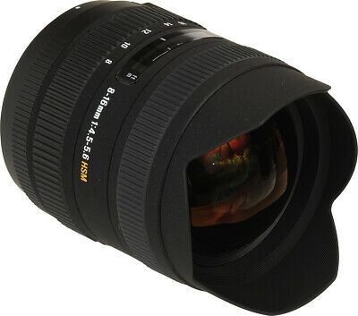 Sigma 8-16mm f/4.5-5.6 DC HSM Ultra-Wide Zoom Lens for Select Nikon DSLRs! NEW!!