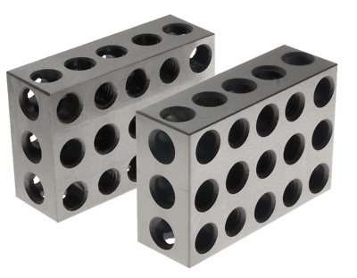 BL-123 Pair of 1 x 2 x 3 Precision Steel 1-2-3 Blocks by