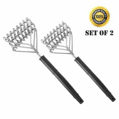Grill Brush Bristle Free Set of 2 - BBQ Grill Brush - Safe Grill Cleaner