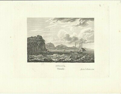 1850 Ithaka Griechenland Ithaca Greece - Alter Stich Old Steel Engraving