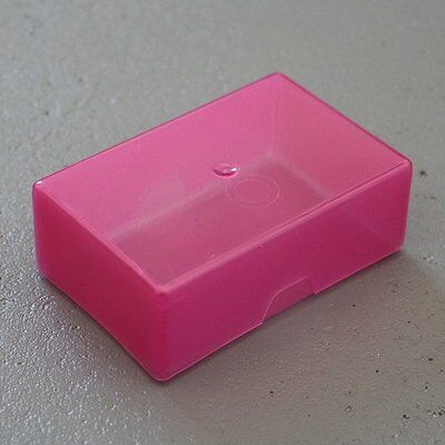 Pink Business Card Sequin / Bead /Craft & Diy Storage Box With Lid