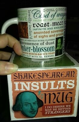 WILLIAM SHAKESPEARE INSULTS Mug Fun Novelty Quote Famous