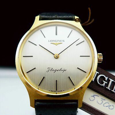 LONGINES FLAGSHIP NOS ref.4027.2 SOLID 18K GOLD vintage 1974 watch NO RESERVE