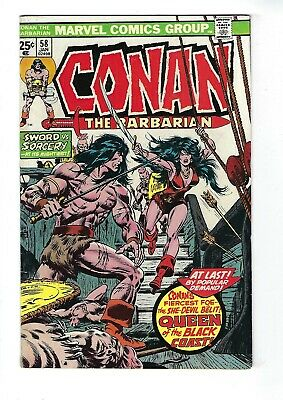 CONAN THE BARBARIAN # 58 (BELIT, QUEEN Of The BLACK COAST, Cents, JAN 1976), FN