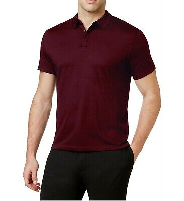 21b5b7c2c NEW MENS ALFANI Port Red Stretch Polo Shirt S  50 -  14.99