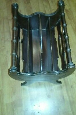 Vintage BEAUTY Duncan Phyfe American Mahogany Magazine Rack Record Stand Holder