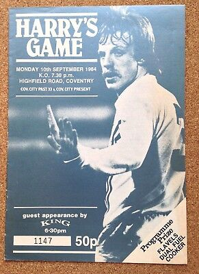 TESTIMONIAL football programme Coventry City v Coventry10/09/84 HARRY ROBERTS