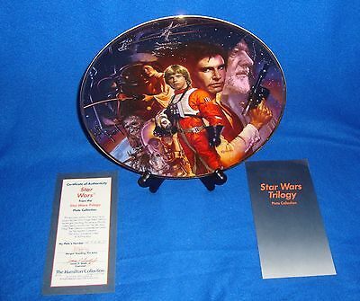 Star Wars Hamilton Collection Collectors Plate with C.O.A. MIB