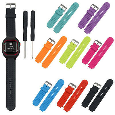 Men Replacement Sports Silicone Watch Wrist Band Strap For Garmin Forerunner 25