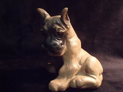 "Vintage Great Dane Hand Painted Chalkware 5"" Figurine"