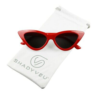 fa04605ba2c0b ShadyVEU Small Kid High Pointed Frame Clout 90 s Retro Vintage Cateye  Sunglasses