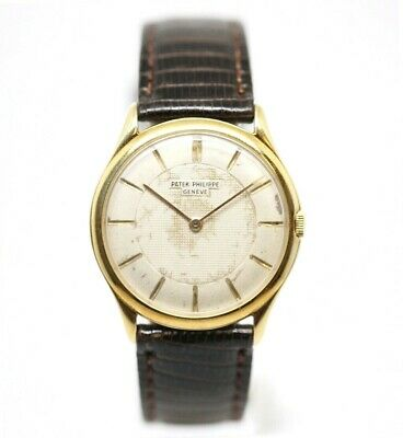 RARE! Patek Philippe Calatrava 2507 18K Yellow Gold Manual 32.50mm Wrist Watch