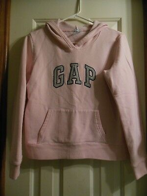 ~GAP~  YOUTH GIRLS PINK w' GRAY HOODIE SIZE SMALL.,GUC