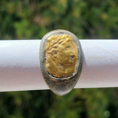 Roman Ancient Silver-Gold Ring #0004