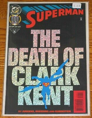 SUPERMAN #100 The Death of Clark Kent DC Comics 1995