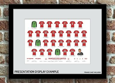 Manchester United 1998/1999 Champions League Winners Sqaud Print