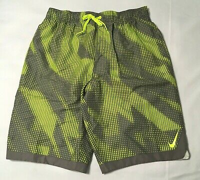 "894f499da6 Nike Men's Horizon 11"" Volley Swim Shorts Lime/Gray design NESS 8448 M L XL"