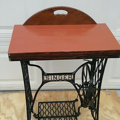 Antique vintage singer sewing machine treadle  legs table. Pick up Only