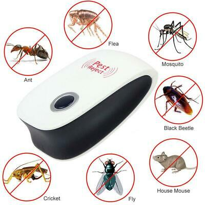 4X Ultrasonic Pest Repeller Electronic Plug In Control Repellent Reject Mice Bug