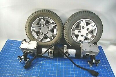Pair of Pride Quantum Q6 Edge Wheelchair Motors Wheels MOT131092-06 MOT131093-06