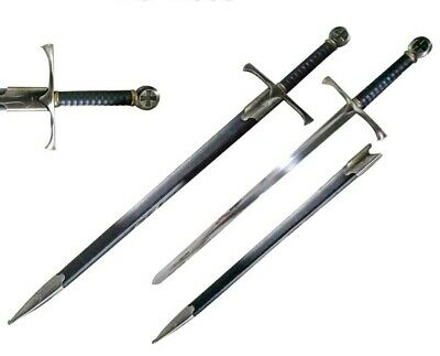 "42"" Medieval Crusader Holy Cross Knights Templar Long Sword Carbon Steel W/ SCAB"
