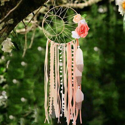 Boho Dream Catcher with Feather Home Room Wall Hanging Decoration Ornament