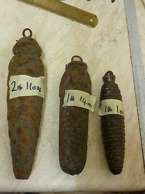 3 Old-Antique Cuckoo - Black Forest Clock Iron Weights