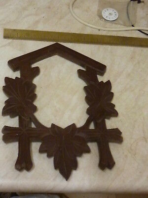 Useful Old Cuckoo Clock Front Wooden Moulding