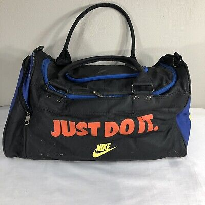 98821f71585 VTG Nike Gym Bag Duffle Grey Tag 90s Swoosh Air Jordan Flight Force Agassi  Tote