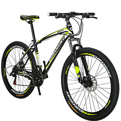 "Mens Mountain Bike 27.5"" Shimano 21 Speed Disc Brakes Bicycle Front Suspension"