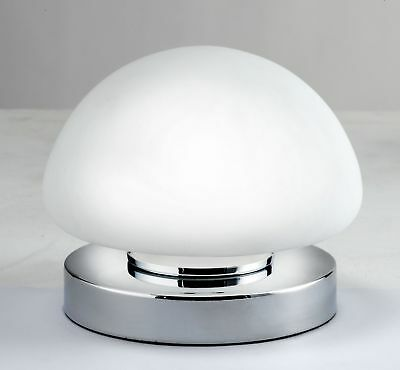 Argos Home Opal Dome Touch Table Lamp - Chrome