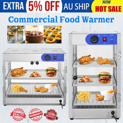 Commercial Food Warmer -Stainless Steel Pizza Pie Hot Display Showcase Cabinet