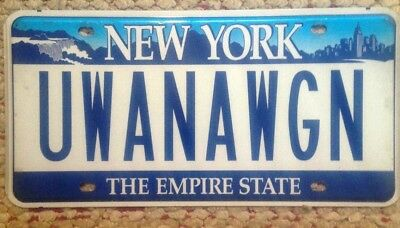 New York Vanity Personalized License Plate You Want A Wagon?? Station Suv 4X4