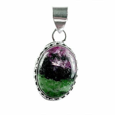 ruby zoisite gemstone pendant 925 solid sterling silver women jewelry CCIPN-2875